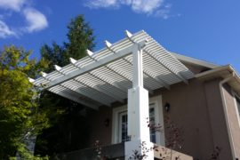 Salt Lake Utah Home Improvement Open Lattice Awning