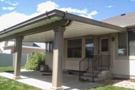 Salt Lake Utah Home Improvement Stucco Wrap Awning